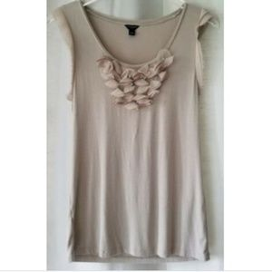 Ann Taylor small light brown sleeveless shirt